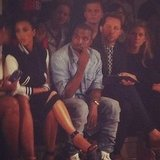 Kim Kardashian and Kanye West took front row seats at NYFW. Source: Instagram user derekblasberg
