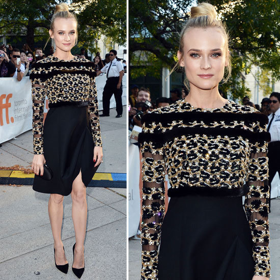 The Toronto Film Festival happened, and we couldn't take our eyes off what the celebrities were wearing. We fell in love with Diane Kruger's ultraembellished Valentino couture outfit.