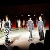 It was stripes galore at Marc Jacobs.