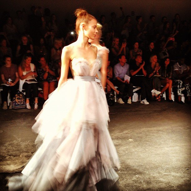 A serious princess moment at Christian Siriano.