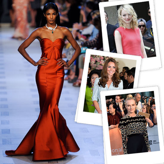 The finales of runway shows are typically reserved for those showstopper gowns — the ones we all dream of wearing. We picked our favorite red-carpet-worthy dresses — and who we think would look amazing wearing them.