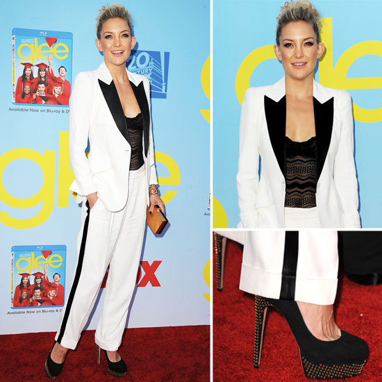 Kate Hudson donned a chic white and black tuxedo look for the premiere of the new season of Glee. We broke down her look and how to mimic her feminine take on menswear.