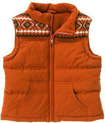 Gymboree Fair Isle Quilted Puffer Vest ($26)