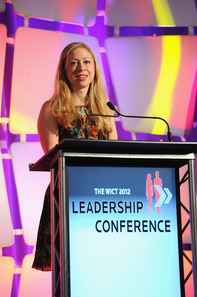 Following her father's speech at the DNC, Chelsea Clinton — an NBC News special correspondent — spoke during the 2012 Women in Cable Telecommunications Conference in New York City.