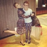 Jessica Alba cuddled up with her stylist, Brad Goreski. Source: Instagram user jessicaalba