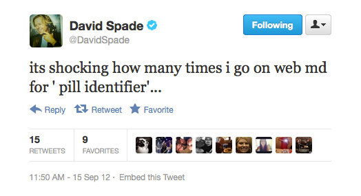 Even David Spade is prone to Dr Google.