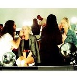 Models got prepped backstage at NYFW. Source: Instagram user rachelzoe
