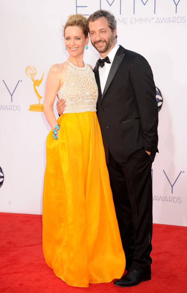 Girls executive producer Judd Apatow walked the red carpet with his wife, actress Leslie Mann.
