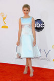 Mad Men's Kiernan Shipka looked sweet in her A-line Emmys dress.