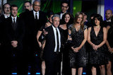 When Jon Stewart won yet another Emmy for The Daily Show, he made sure to acknowledge his fellow late-night nominees.