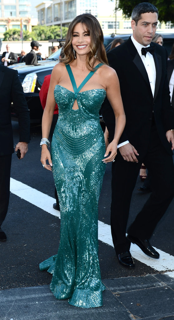 Sofia Vergara arrived at the 2012 Emmys.