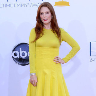 Julianne Moore in Yellow Christian Dior at the Emmys 2012