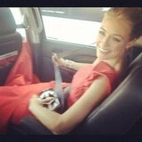 Cat Deeley bucked up on her way to the show.  Source: Instagram user catdeeley