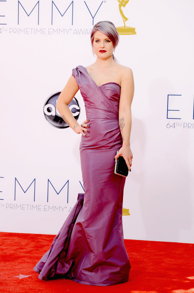 Kelly Osbourne walked the red carpet at the 2012 Emmys.