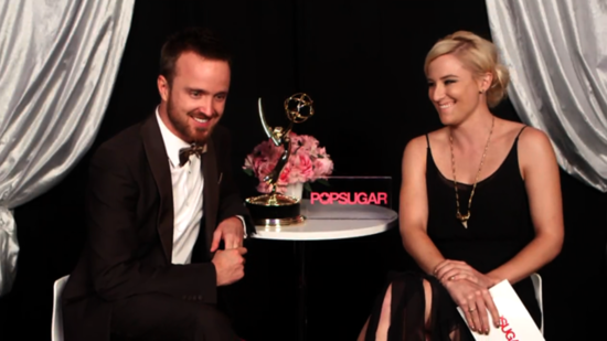 Video: Aaron Paul Talks Emmy Win, His Fiancée, and Breaking Bad's End