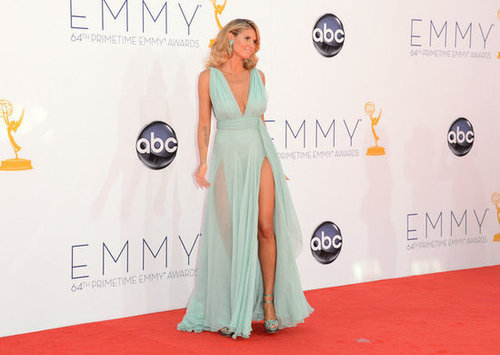 Heidi Klum stepped onto the red carpet at the Emmy Awards.