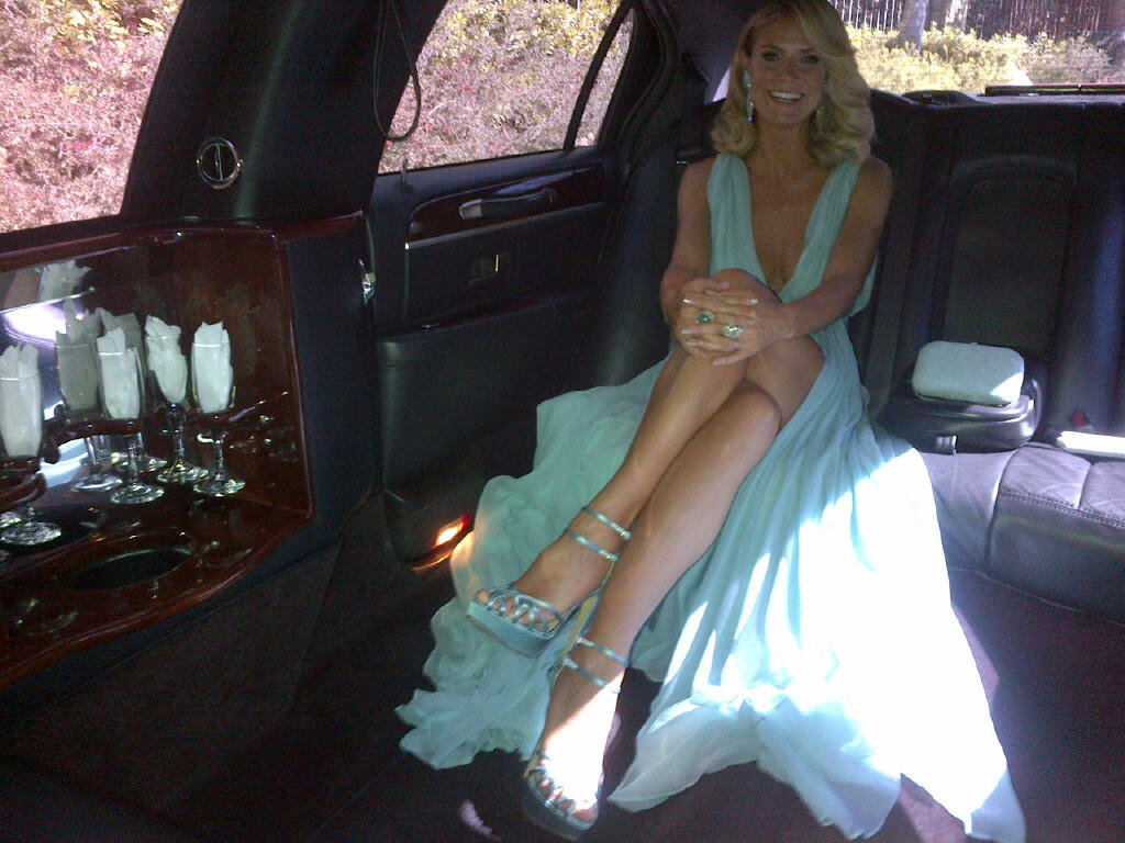 Heidi Klum traveled in style to the big event. Source: Twitter user heidiklum