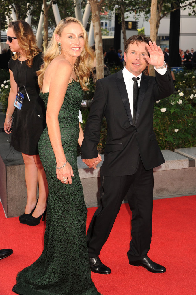 Mom of four Tracy Pollan accompanied her husband, Michael J. Fox, to the Emmys.