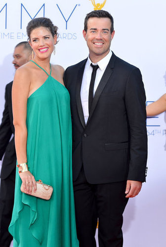 Carson Daly and Siri Pinter posed together.