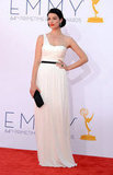 Jessica Paré Wears White For Her Big Emmys Night