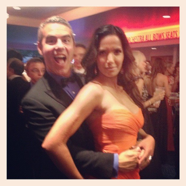 Andy Cohen ran into his Bravo friend Padma Lakshmi. Source: Instagram user instylemagazine