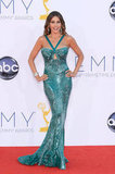 At this year's Emmy Awards, Sofia Vergara flaunted her signature curves in a sequined keyhole gown by Zuhair Murad.