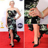 Pictures of Elisabeth Moss in Dolce &amp; Gabban Floral dress on the red carpet at the 2012 Emmy Awards