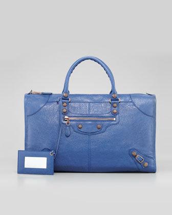 Giant 12 Rose Golden Work Bag, Bleute