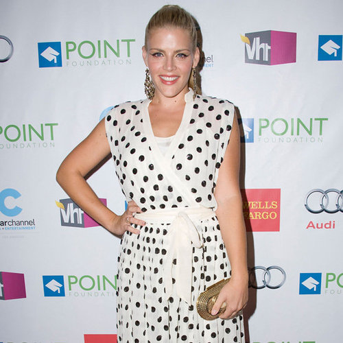 Busy Philipps Wearing Polka-Dot Dress