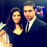 America Ferrera and Wilmer Valderrama hung out backstage at the ALMAs. Source: Instagram user wilmervalderrama