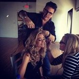 Denise Richards got ready — or at least let other people get her ready — for a photo shoot. Source: Instagram user officialpage_deniserichards