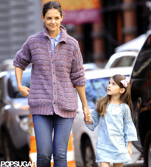 Katie Holmes and Suri Cruise held hands for an afternoon in NYC.