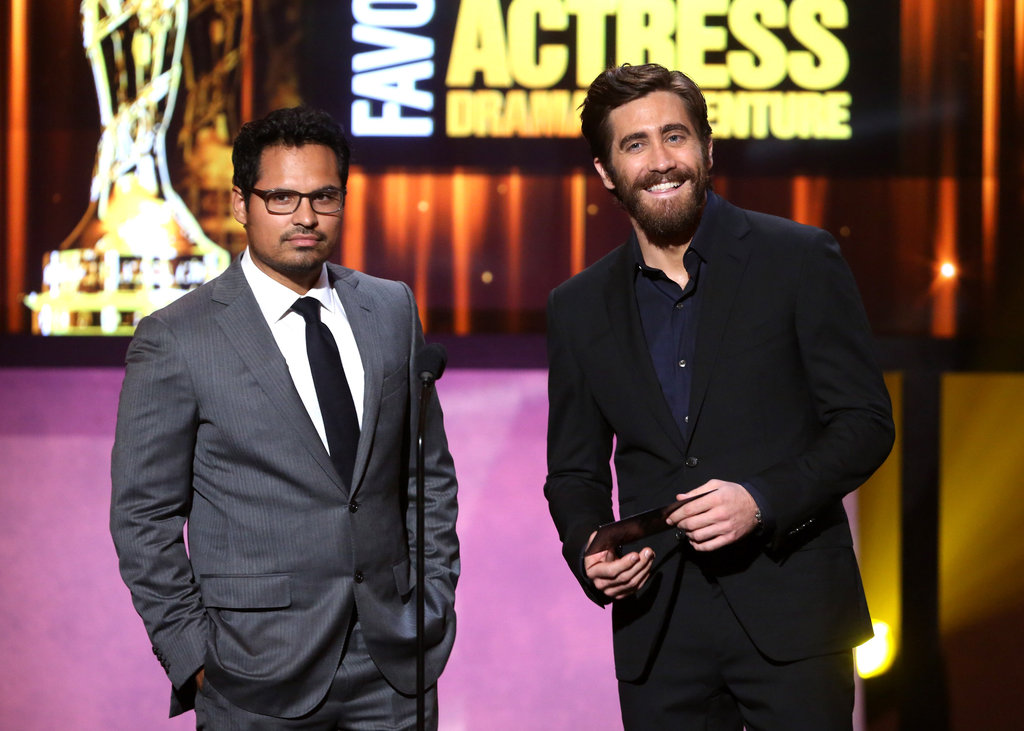 Jake Gyllenhaal and Michael Pena took the stage at the ALMA Awards in LA to present an award.