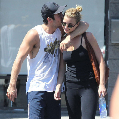 Emily VanCamp and Josh Bowman Kissing in LA