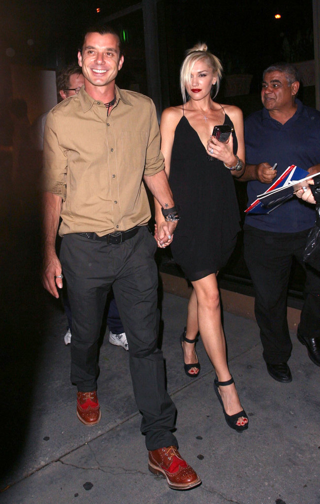 Gwen Stefani and Gavin Rossdale celebrated their 10th wedding anniversary in September 2012 with a date night.
