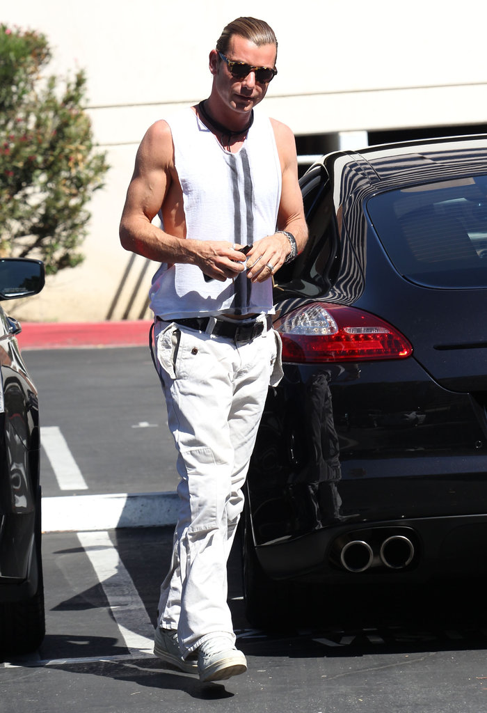 Gavin Rossdale showed off his arm muscles in a tank top.