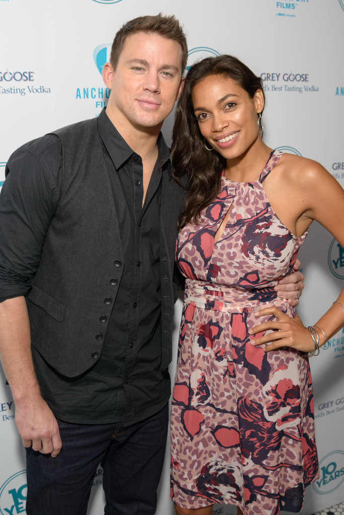 Channing Tatum posed with his Ten Years costar Rosario Dawson.
