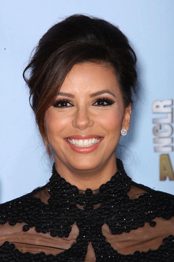 Eva Longoria posed in Monique Lhullier.