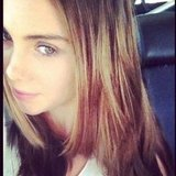 McKayla Maroney took a self-portrait while riding in the car.  Source: Instagram user mckaylamaroney