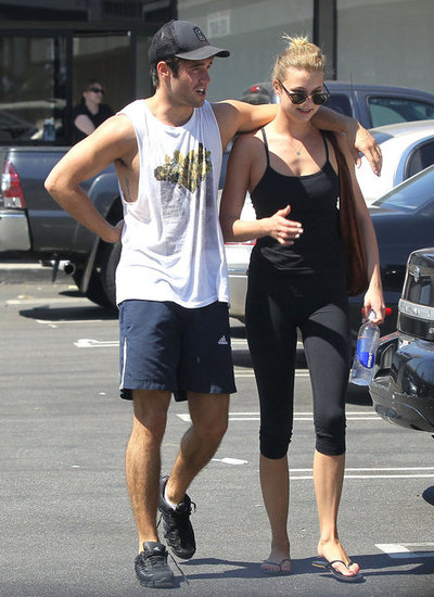 Emily VanCamp and Josh Bowman got in a workout together.