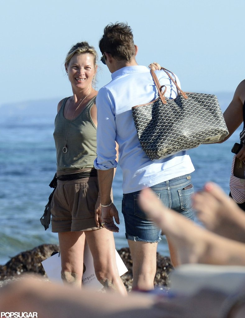 Kate Moss Poses in Italy, Then Parties in Ibiza