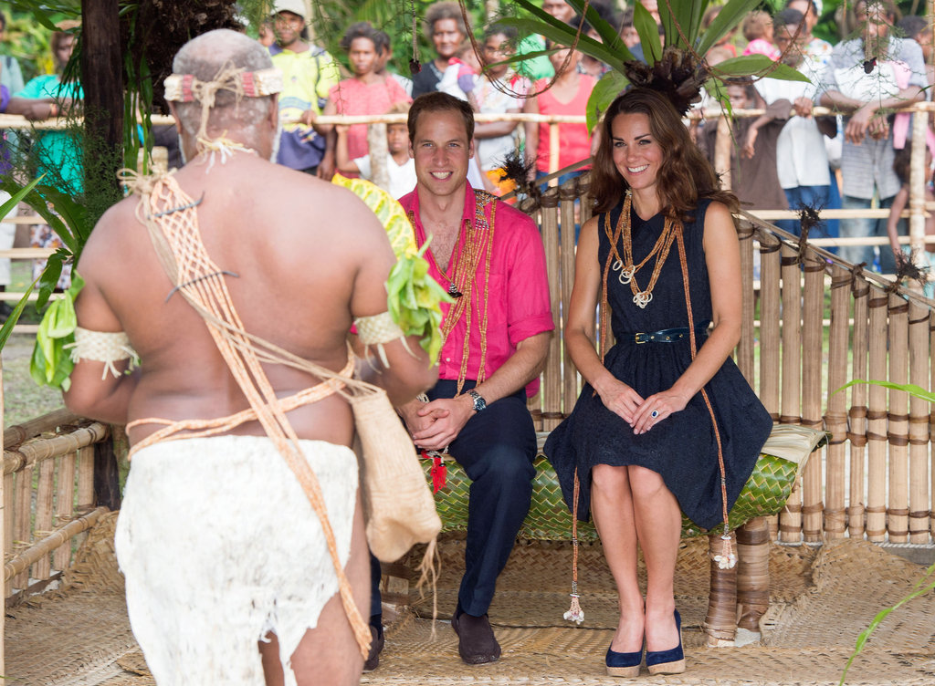Will and Kate were entertained during their visit to the Solomon Islands.