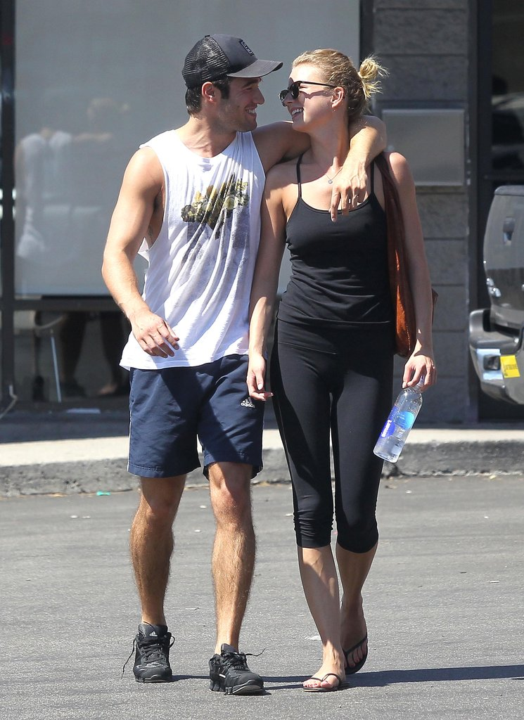 Emily VanCamp and Josh Bowman left the gym in LA together.