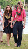 Kate Middleton and Prince William went barefoot in Tuvanipupu.