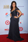 America Ferrera showed off her curves in a gorgeous cap-sleeved, navy-hued gown.