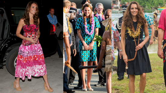 Kate Middleton Opts For Easy Island Style on Tour
