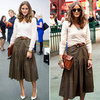 Olivia Palermo's Leather Skirt by Reiss