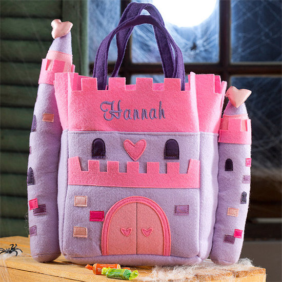 Princess Castle Embroidered Trick-or-Treat Bag ($20)