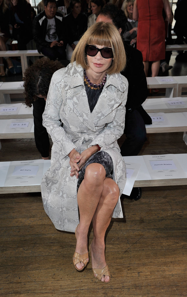 ANna Wintour at Nicole Farhi
