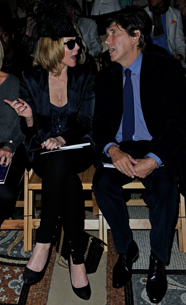 Kim Cattrall and Bryan Ferry at Philip Treacy